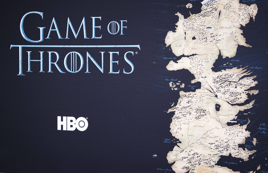 April 10, 2016 - Hollywood, California, U.S - Game of Thrones Logo and Artwork --- HBO s Game of Thrones 2016 Season Premiere took place in Hollywood at the TCN Chinese Theatre on Sunday evening. Hollywood U.S. PUBLICATIONxINxGERxSUIxAUTxONLY - ZUMAb102