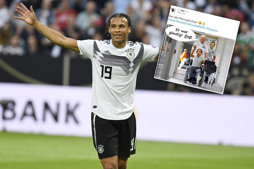 Leroy Sane in Aktion beim Fussbal EM-Qualifikations- Spiel BRD-Estland am 11 Juni 2019 in Mainz. DFL regulations prohibit any use of photographs as image sequences and / or quasi-video. Leroy Sane in Aktion beim Fussbal EM-Qualifikations- Spiel BRD-Estland am 11 Juni 2019 in Mainz. DFL regulations prohibit any use of photographs as image sequences and / or quasi-video. *** Leroy Sane in action at the football EM qualification game BRD Estonia on 11 June 2019 in Mainz DFL regulations prohibit any use of photographs as image sequences and or quasi video Leroy Sane in action at the football EM qualification game BRD Estonia on 11 June 2019 in Mainz DFL regulations prohibit any use of photographs as image sequences and or quasi video