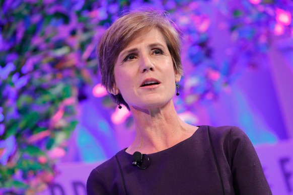 WASHINGTON, DC - OCTOBER 11:  Former Deputy Attorney General, U.S. Department of Justice Sally Yates speaks onstage at the Fortune Most Powerful Women Summit - Day 3 on October 11, 2017 in Washington, DC.  (Photo by Paul Morigi/Getty Images for Fortune)