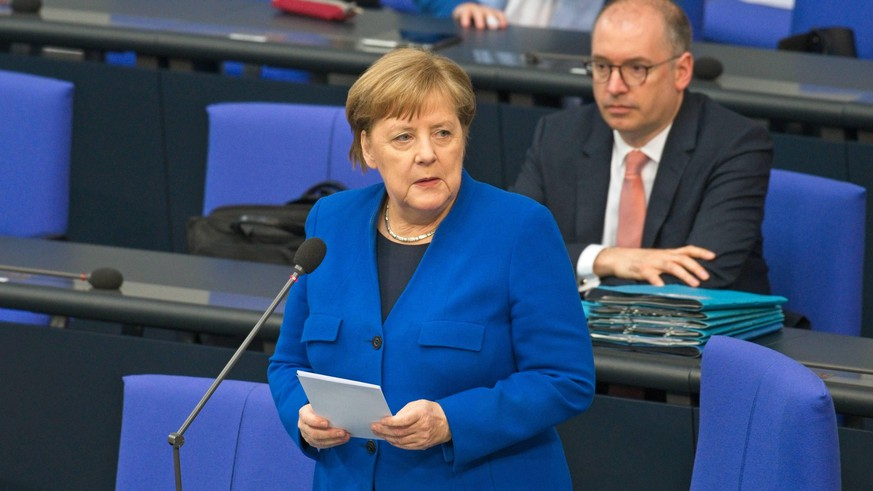 Berlin GER, Berlin, 13.05.20, Befragung der Bundesregierung Dr Angela Merkel - BK - CDU, Befragung der Bundesregierung im Deutschen Bundestag, 13.05.2020, *** Berlin GER, Berlin, 13 05 20, Federal Government Survey Dr Angela Merkel BK CDU, Federal Government Survey in the German Bundestag, 13 05 2020 Copyright: xUwexKoch/xEibner-Pressefotox EPukh