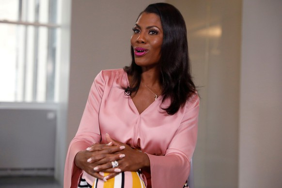 REFILE - CORRECTING YEAR   Former U.S. White House staffer Omarosa Manigault-Newman speaks during an interview on the release of her book