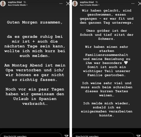 La influencer publicó este mensaje en su historia de Instagram.