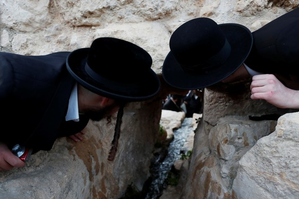 Ultra-Orthodox Jews take part in the