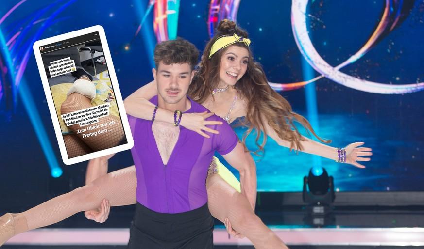 """Klaudia mit K stürzt schwer bei """"Dancing on Ice"""" – und verrät, wie es weitergeht"""