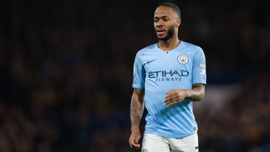 Raheem Sterling of Manchester City during the Premier League match at Stamford Bridge Stadium, London. Picture date: 8th December 2018. Picture credit should read: Craig Mercer/Sportimage PUBLICATIONxNOTxINxUK C77R3056.CR2