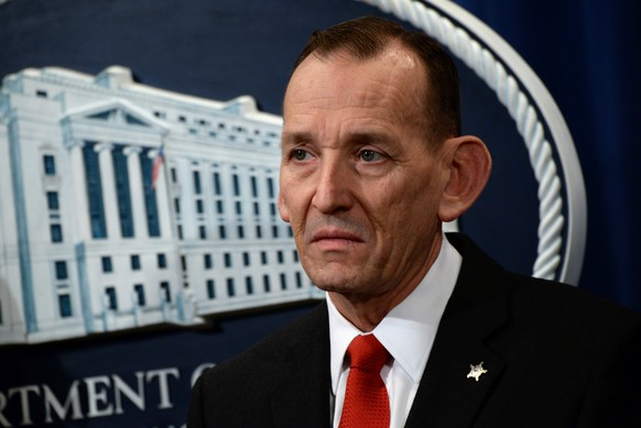 U.S. Secret Service Director Randolph Alles participates in a news conference about