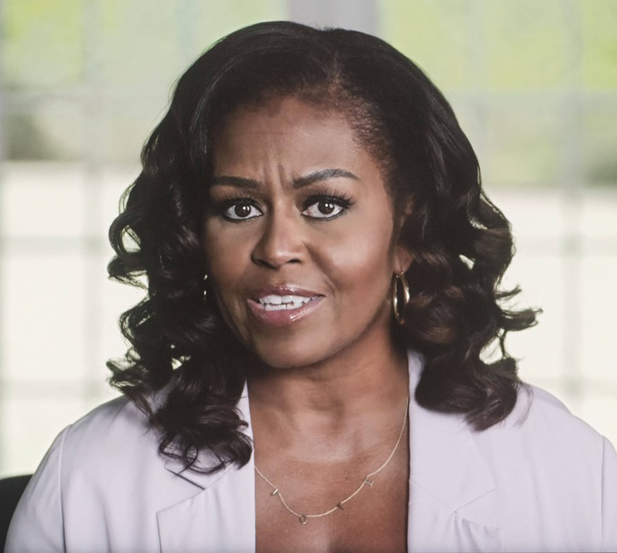 October 06, 2020 - Washington, District of Columbia, USA. - Screen grab of a video released by the campaign in which MICHELLE OBAMA makes her closing argument for why President Trump must be voted out of office. Washington U.S. - ZUMAce6_ 20201006_zaf_ce6_001 Copyright: xBidenxHarrisx