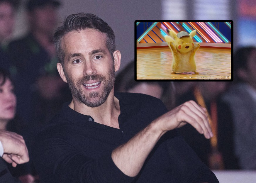 Canadian-American actor Ryan Reynolds attends a press conference for new movie Pokemon Detective Pikachu in Beijing, China, 21 April 2019. *** Local Caption *** Ryan Reynolds teams up with co-stars to promote new film Pokemon Detective Pikachu in Beijing PUBLICATIONxINxGERxAUTxSUIxONLY bjl8887171