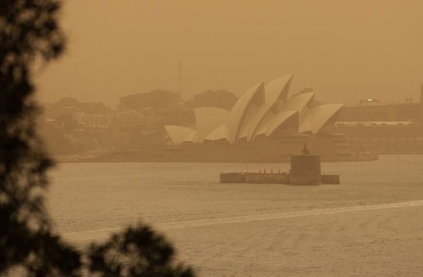 Ja, das ist das Sydney Opera House – Australiens Ostküste steht in Flammen