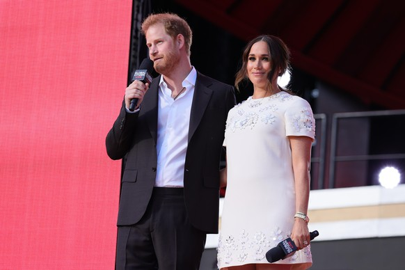 """Harry e Meghan parlano """"Cittadino globale in diretta""""- E' successo a New York."""