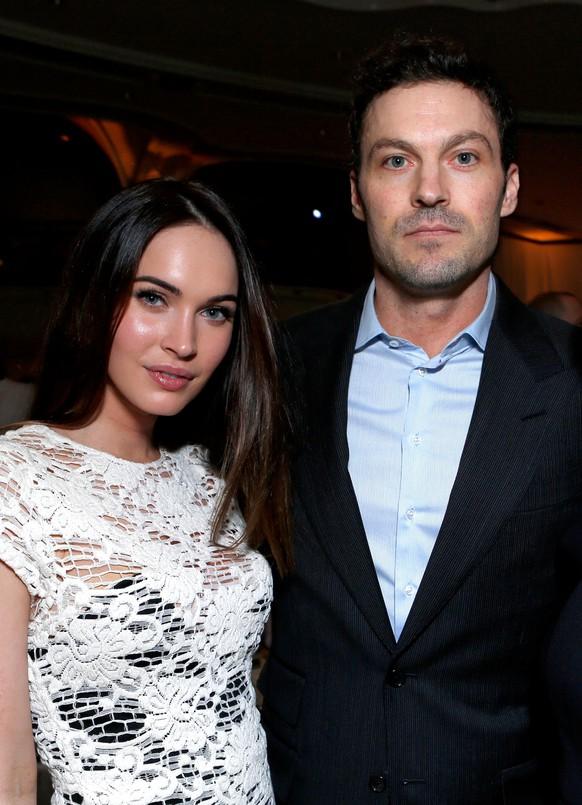 BEVERLY HILLS, CA - DECEMBER 07:  (L-R) Actors Megan Fox and Brian Austin Green attend the 7th Annual March of Dimes Celebration of Babies, a Hollywood Luncheon, at the Beverly Hills Hotel on December 7, 2012 in Beverly Hills, California.  (Photo by Alexandra Wyman/Getty Images For March Of Dimes)
