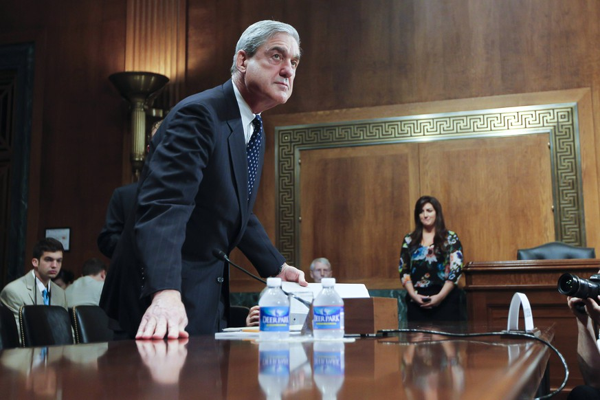 May 17, 2017 - FILE PHOTO - The Justice Department on Wednesday named ROBERT MUELLER as special counsel to oversee the department s investigation into Russian meddling in the 2016 election. Mueller III served as FBI director from 2001 through 2013. Pictured: May 16, 2012 - Washington, DC, U.S. - z FBI Director ROBERT MUELLER testifies before the Senate Judiciary Committee Hearing on oversight of the Federal Bureau of Investigation. Washington U.S. PUBLICATIONxINxGERxSUIxAUTxONLY - ZUMAb21_ 20170517_shr_b21_060 Copyright: xJamesxBergliex