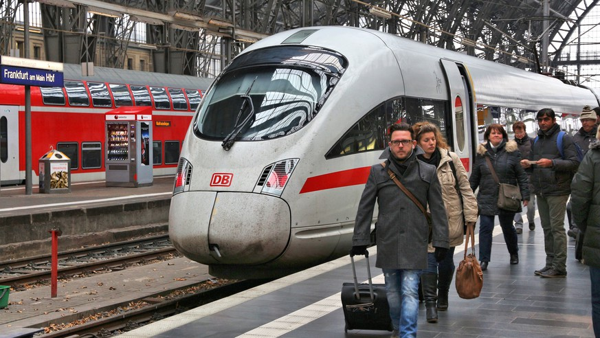 Frankfurt: Passengers alight the Intercity train at Frankfurt Hauptbahnhof station in Germany. It is among 5 busiest stations in Europe with 450,000 daily passengers.