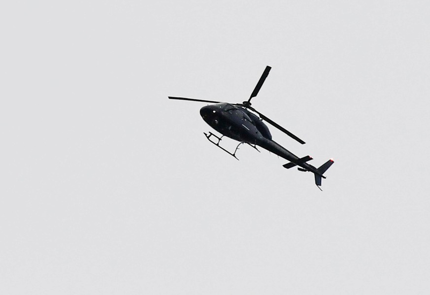 (190316) -- CHRISTCHURCH, March 16, 2019 (Xinhua) -- A helicopter flies over the scene of the attacks in Christchurch, New Zealand, on March 16, 2019. (Xinhua/Guo Lei) NEW ZEALAND-CHRISTCHURCH-ATTACKS-AFTERMATH PUBLICATIONxNOTxINxCHN