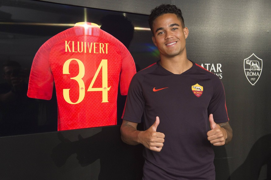 Photo Luciano Rossi/AS Roma/ LaPresse 19/07/2018 Roma (Italia) Soccer Press Coference In the pic: Justin Kluivert PUBLICATIONxINxGERxSUIxAUTxONLY Copyright: xLucianoxRossi/ASxRoma/LaPresse Lx
