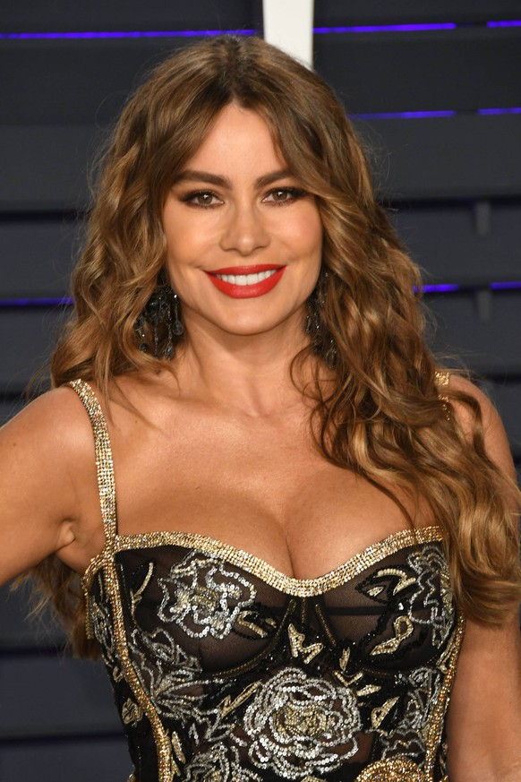 24 February 2019 - Los Angeles, California - Sofia Vergara. 2019 Vanity Fair Oscar Party following the 91st Academy Awards held at the Wallis Annenberg Center for the Performing Arts. Photo Credit: Birdie Thompson/AdMedia 235666 2019-02-24 California Los Angeles Etats-Unis PUBLICATIONxINxGERxAUTxONLY Copyright: xAdMediax STAR_235666_073