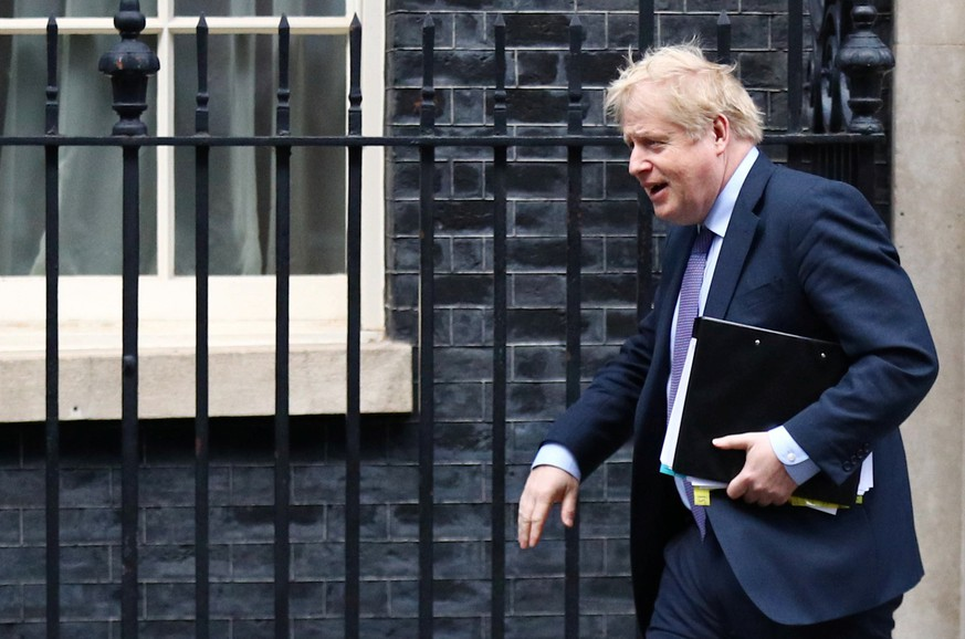 Britain's Prime Minister Boris Johnson leaves Downing Street in London, Britain February 12, 2020. REUTERS/Hannah McKay