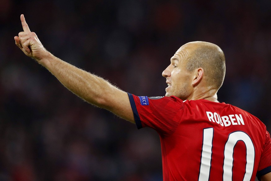 Arjen Robben of FC Bayern Munchen during the UEFA Champions League group E match between Bayern Munich and Ajax Amsterdam at the Allianz Arena on October 02, 2018 in Munich, Germany UEFA Champions League 2018/2019 xVIxVIxImagesx/xTomxBodexMultimediaxIVx PUBLICATIONxINxGERxSUIxAUTxONLY 12325758