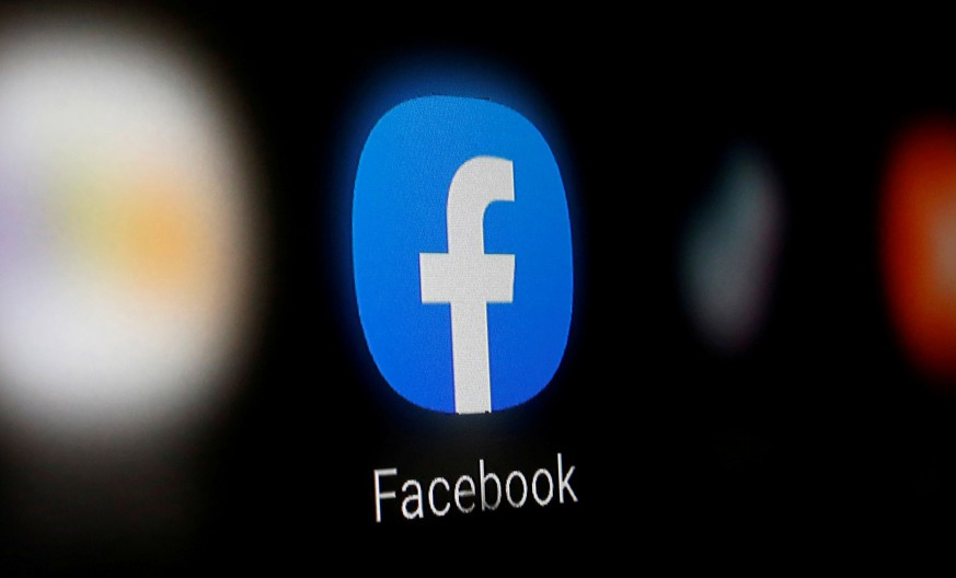 FILE PHOTO: A Facebook logo is displayed on a smartphone in this illustration taken January 6, 2020. REUTERS/Dado Ruvic/File Photo