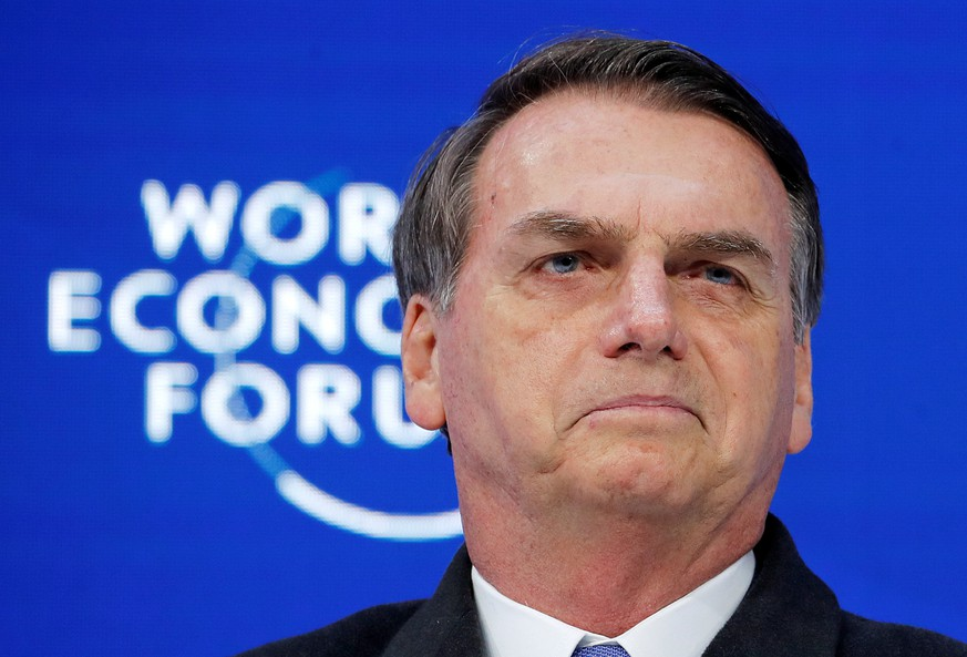 FILE PHOTO: Brazil's President Jair Bolsonaro attends the World Economic Forum annual meeting in Davos, Switzerland, Jan. 22, 2019. REUTERS/Arnd Wiegmann/File Photo