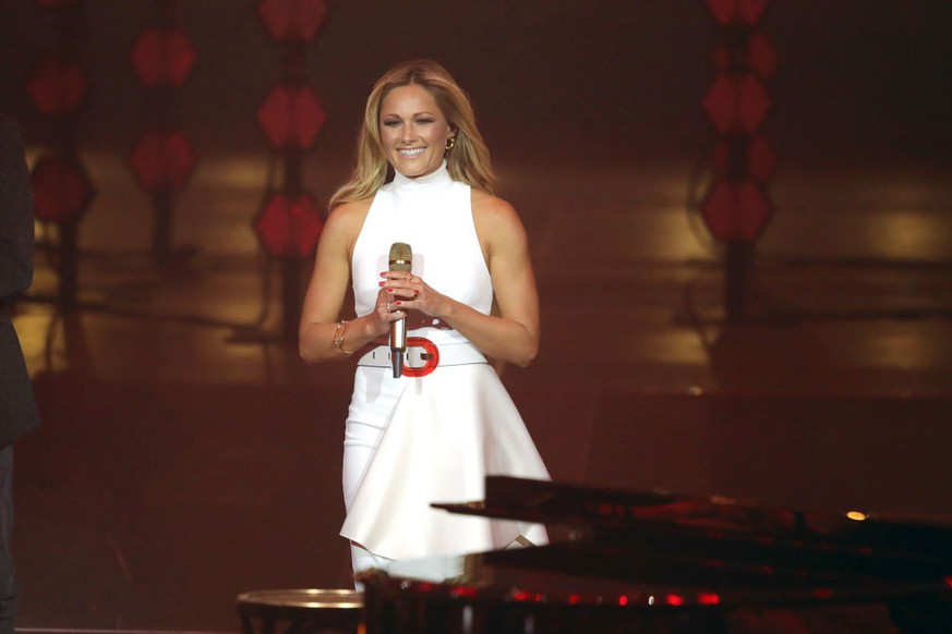 BERLIN, GERMANY - APRIL 12:  Helene Fischer performs on stage during the Echo Award show at Messe Berlin on April 12, 2018 in Berlin, Germany.  (Photo by Andreas Rentz/Getty Images)