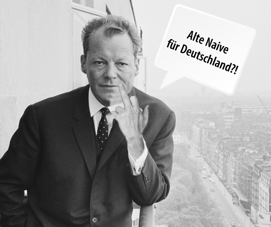 Willy Brandt (1913 - 1992), mayor of West Berlin, during a visit to London, 24th April 1965. (Photo by Terry Fincher/Express/Hulton Archive/Getty Images)