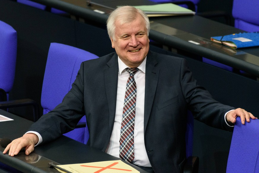 Bundesminister des Innern, f??r Bau und Heimat, Horst Seehofer von der Christlich-Sozialen Union (CSU) waehrend der 89. Sitzung des Bundestags am 21.03.2019 im Bundestag in Berlin, Deutschland. *** Federal Minister of the Interior for Construction and Home Horst Seehofer of the Christian Social Union CSU during the 89th session of the Bundestag on 21 03 2019 in the Bundestag in Berlin Germany
