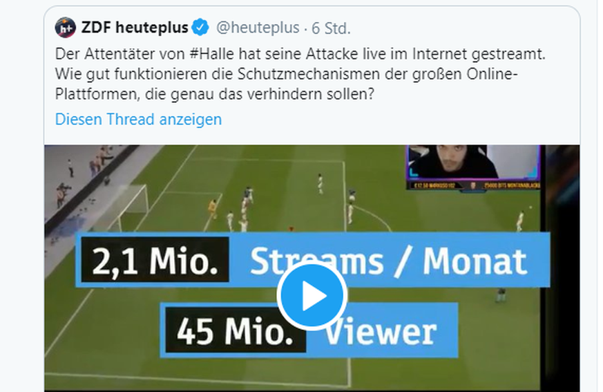ZDF entschuldigt sich nach Halle-Bericht – User verärgert