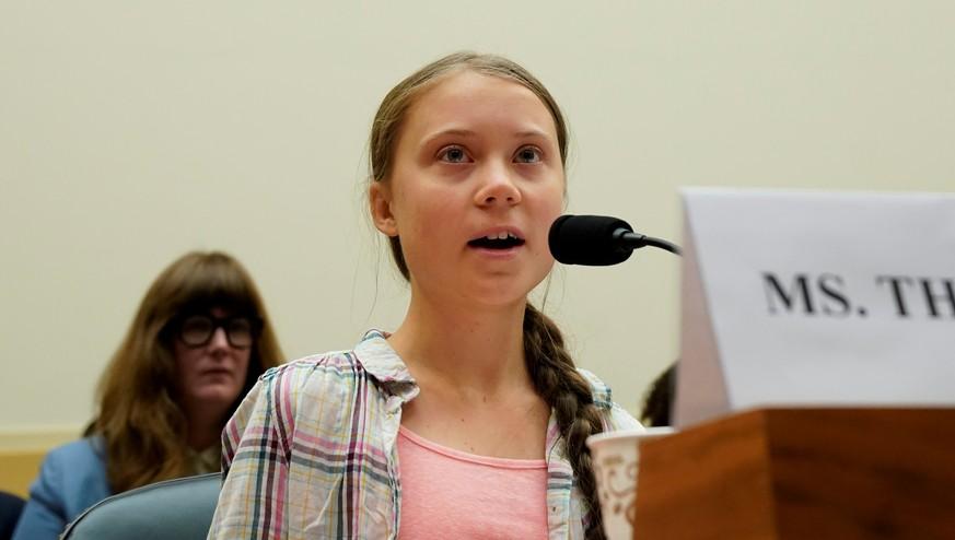 """Greta Thunberg heizt US-Kongress ein: """"Spart euch euer Lob"""""""