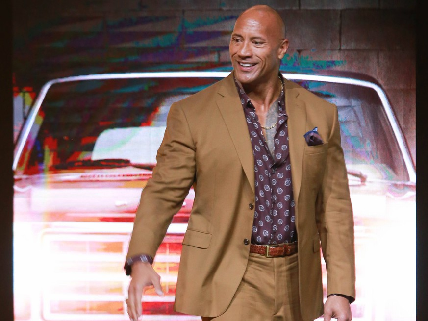 BEIJING, CHINA - AUGUST 05: Actor Dwayne Johnson attends the Fast & Furious: Hobbs & Shaw press conference on August 5, 2019 in Beijing, China. PUBLICATIONxINxGERxSUIxAUTxHUNxONLY Copyright: xVCGx CFP111228781628