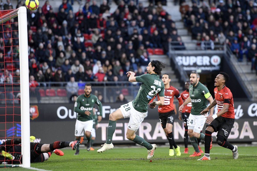 28 NEVEN SUBOTIC (ASSE) FOOTBALL : Rennes vs Saint Etienne - Ligue 1 Conforama - 10/02/2019 AnthonyBIBARD/FEP/Panoramic PUBLICATIONxNOTxINxFRAxITAxBEL