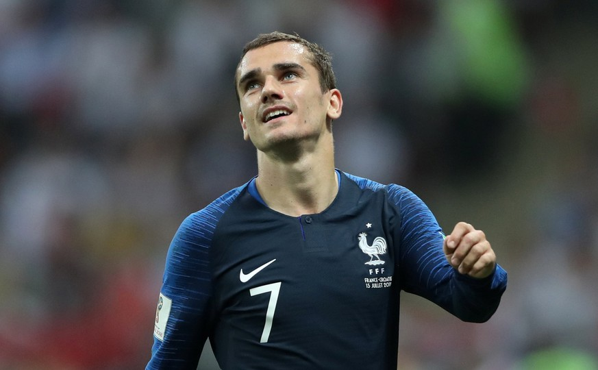Soccer Football - World Cup - Final - France v Croatia - Luzhniki Stadium, Moscow, Russia - July 15, 2018  France's Antoine Griezmann reacts        REUTERS/Carl Recine