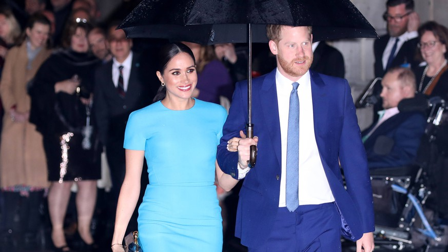 Prince Harry, Duke of Sussex, and Meghan Markle, Duchess of Sussex, attend the annual Endeavour Fund Awards. The awards celebrate achievements of wounded, injured and sick servicemen and women who have taken part in remarkable sporting and adventure challenges over the last year. Prince Harry, Duke of Sussex, and Meghan Markle, Duchess of Sussex, attend Endeavour Fund Awards, Mansion House, London, UK, on March 5, 2020. PUBLICATIONxNOTxINxUK