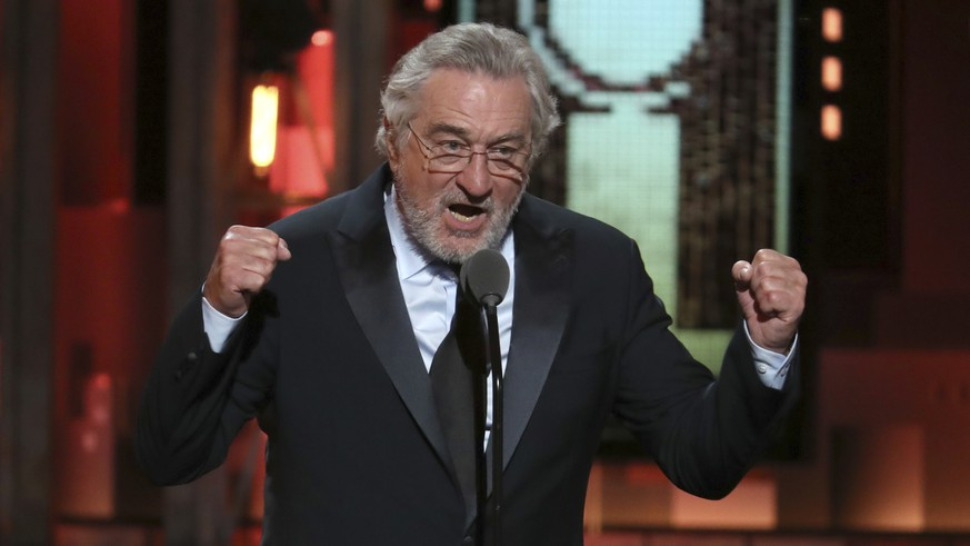 Robert De Niro introduces a performance by Bruce Springsteen at the 72nd annual Tony Awards at Radio City Music Hall on Sunday, June 10, 2018, in New York. (Photo by Michael Zorn/Invision/AP)