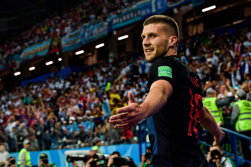 Ante Rebic of Croatia celebrates after scoring a goal against Argentina in their Group D match during the 2018 FIFA World Cup WM Weltmeisterschaft Fussball in Nizhny Novgorod, Russia, 21 June 2018. Lionel Messi s frustrating international career may be coming to an early and anti-climactic finish after Argentina s worst loss in World Cup group play in 60 years. With Diego Maradona watching from the stands, the 2014 runners-up were routed by Croatia 3-0 Thursday. The Croats are moving on to the round of 16. Messi got off only one shot in a defeat that pushed Argentina to the brink of elimination. Messi, who turns 31 on Sunday, has never won a major title with Argentina s senior national team Nationalteam despite of decade of championships with Barcelona and five player of the year awards. Cristiano Ronaldo goal sees Portugal eliminate Morocco from Russia 2018 PUBLICATIONxINxGERxAUTxSUIxONLY 20180622_02241