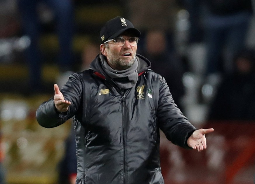 Soccer Football - Champions League - Group Stage - Group C - Crvena Zvezda v Liverpool - Rajko Mitic Stadium, Belgrade, Serbia - November 6, 2018  Liverpool manager Juergen Klopp reacts  Action images via Reuters/Paul Childs