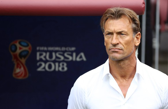 (180620) -- MOSCOW, June 20, 2018 -- Head coach Herve Renard of Morocco is seen prior to a Group B match between Portugal and Morocco at the 2018 FIFA World Cup WM Weltmeisterschaft Fussball in Moscow, Russia, June 20, 2018. ) (SP)RUSSIA-MOSCOW-2018 WORLD CUP-GROUP B-PORTUGAL VS MOROCCO XuxZijian PUBLICATIONxNOTxINxCHN
