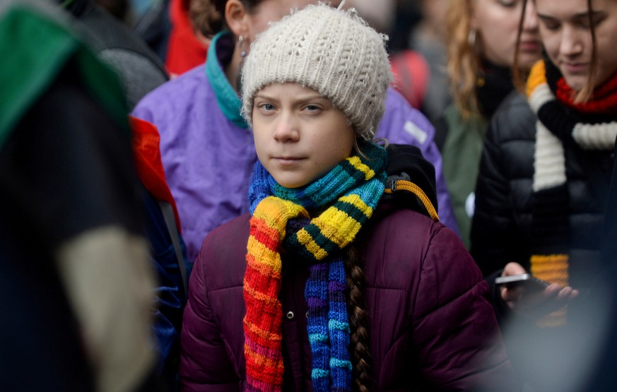 FILE PHOTO: Swedish climate activist Greta Thunberg takes part in the rally ''Europe Climate Strike'' in Brussels, Belgium, March 6, 2020. REUTERS/Johanna Geron/File Photo