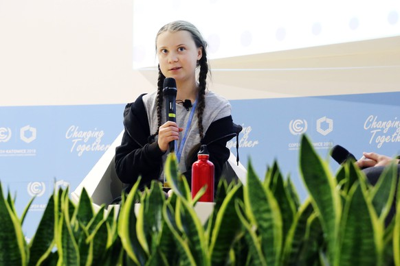Meeting with Greta Thunberg, 15 years old Swedish activist, took place in Katowice, December 5 during COP24. (CTKxPhoto/GrzegorzxKlatka) CTKPhotoF201812051548101 PUBLICATIONxINxGERxSUIxAUTxONLY