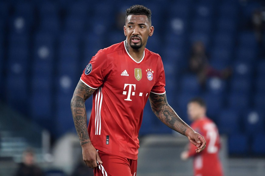 Jerome Boateng of FC Bayern Munchen reacts during the Champions League round of 16 football match between SS Lazio and Bayern Munchen at stadio Olimpico in Rome Italy, February, 23th, 2021. Photo Andrea Staccioli / Insidefoto andreaxstaccioli