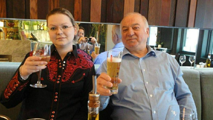 Sergey Skripal with his daughter Yulia pictured at restaurant they visited before being found poisoned. Photoxfromxsocialxnetworks PUBLICATIONxINxGERxSUIxAUTxHUNxONLY