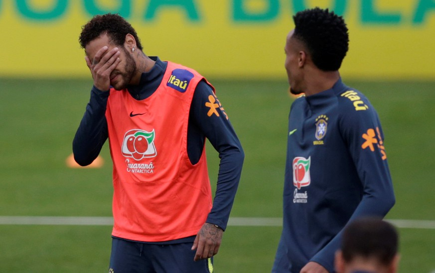 Soccer Football - After denying an accusation of rape, the Brazilian football star Neymar trains with his national team in Teresopolis, Brazil June 2, 2019         REUTERS/Ricardo Moraes