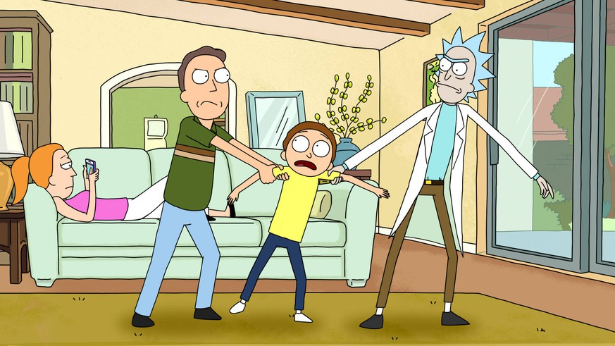 RICK AND MORTY, from left: Summer Smith, Jerry Smith, Morty Smith, Rick Sanchez, Season 1. photo: Adult Swim / Courtesy: Everett Collection Cartoon Network/Courtesy Everett Collection ACHTUNG AUFNAHMEDATUM GESCHÄTZT PUBLICATIONxINxGERxSUIxAUTxONLY Copyright: xCartoonxNetwork/CourtesyxEverettxCollectionx TCDRIAN EC127