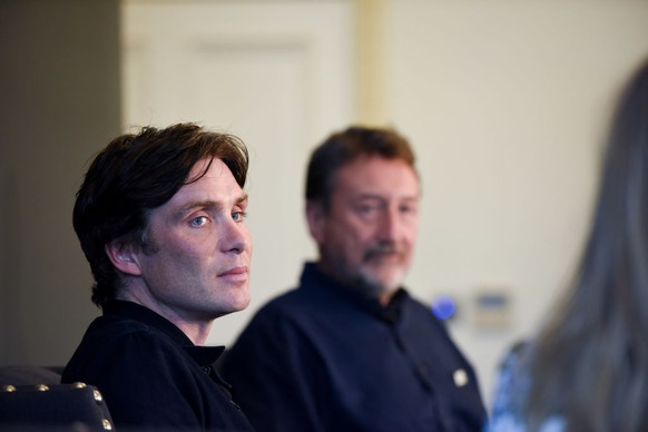 LONDON, ENGLAND - OCTOBER 12: Cillian Murphy and Steven Knight during an An Evening with Steven Knight and Cillian Murphy from Peaky Blinders at Esquire Townhouse with Dior at Carlton House Terrace on October 12, 2017 in London, England. (Photo by Nicky J Sims/Getty Images)