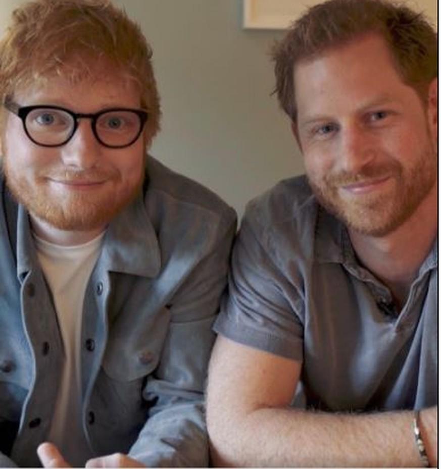 Ed Sheeran und Prinz Harry machen gemeinsame Sache – für wichtige Botschaft