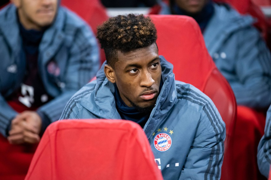 12.12.2018, xkvx, Fussball UEFA Champions League, Ajax Amsterdam - FC Bayern Muenchen emspor, v.l. Kingsley Coman (FCB - FC Bayern Muenchen) (DFL/DFB REGULATIONS PROHIBIT ANY USE OF PHOTOGRAPHS as IMAGE SEQUENCES and/or QUASI-VIDEO) Amsterdam *** 12 12 2018 xkvx Football UEFA Champions League Ajax Amsterdam FC Bayern Muenchen emspor v l Kingsley Coman FCB FC Bayern Muenchen DFL DFB REGULATIONS PROHIBIT ANY USE OF PHOTOGRAPHS as IMAGE SEQUENCES and or QUASI VIDEO Amsterdam
