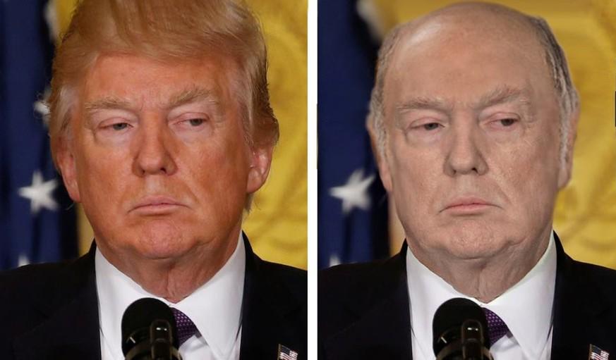 Photoshop Sieht Donald Trump In Wahrheit So Aus Ohne Haare Und