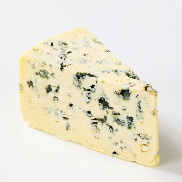 a piece of a ripe blue cheese