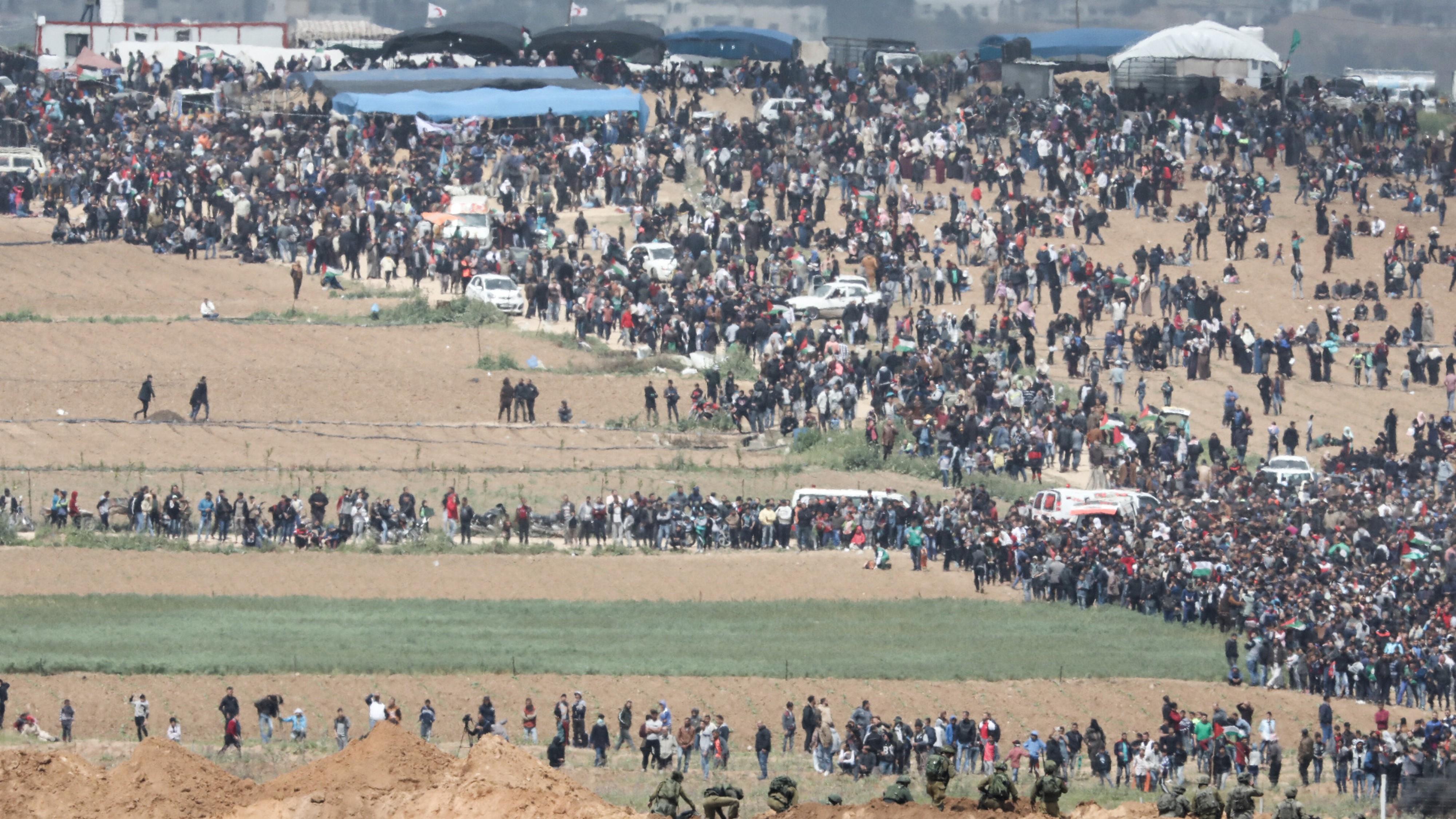 Gazastreifen:Schwere Krawalle bei Marsch der Rückkehr - 17 ...