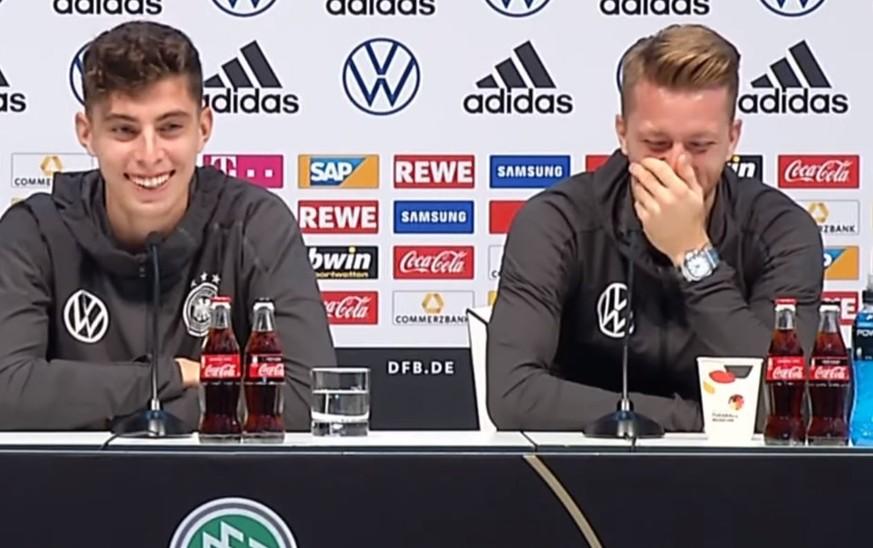DFB-Pressekonferenz: Reus bekommt nach ehrlicher Kinderfrage einen Lachanfall